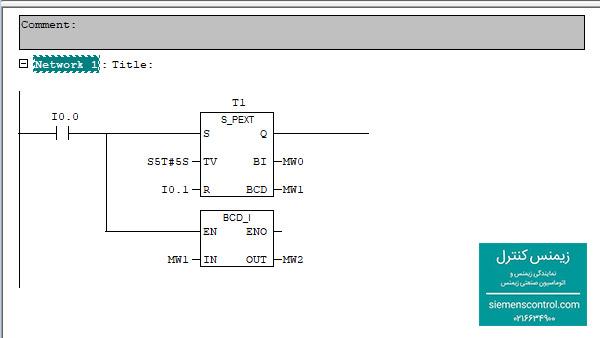 مثال کاربردی از دستورات مقایسه ای در پی ال سی S7-300 نمایندگی زیمنس -02