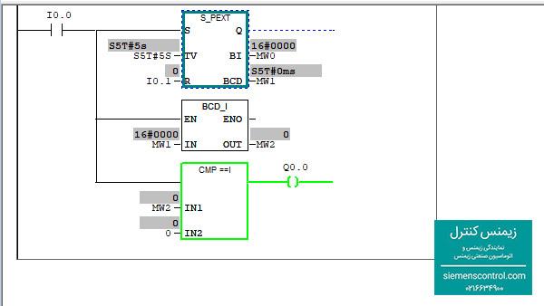 مثال کاربردی از دستورات مقایسه ای در پی ال سی S7-300 نمایندگی زیمنس -04