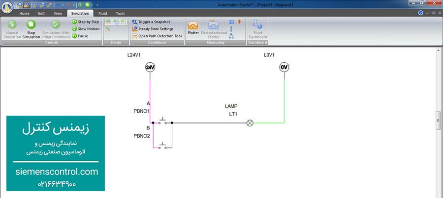 طراحی مدار فرمان OR در زیمنس کنترل