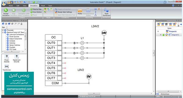 آموزش سیم بندی خروجی PLC S71200 زیمنس در زیمنس کنترل - نمایندگی زیمنس