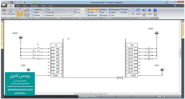 روشن شدن لامپ ورودی و خروجی PLC S71200 زیمنس