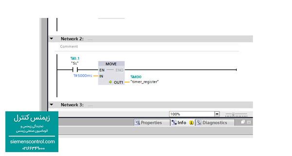 زیمنس کنترل- نمایندگی زیمنس - دستور move  در نرم افزار tia portal - پی ال سی s71200
