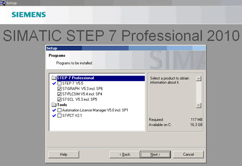 توضیح نمایندگی زیمنس برای چگونگی نصب نرم افزار step7